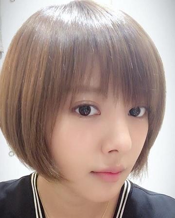 これは、2016年9月のときの髪型です。髪色がかなり明るいですね。